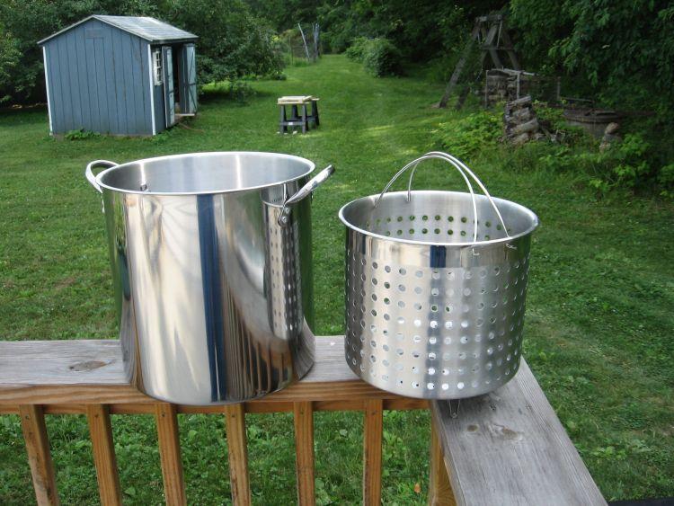 Stainless Steel pot & basket