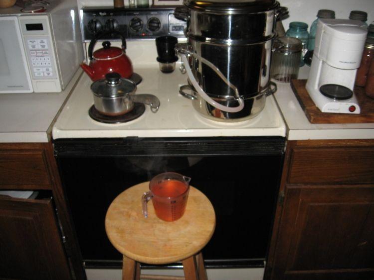 Steaming Apple juice 8