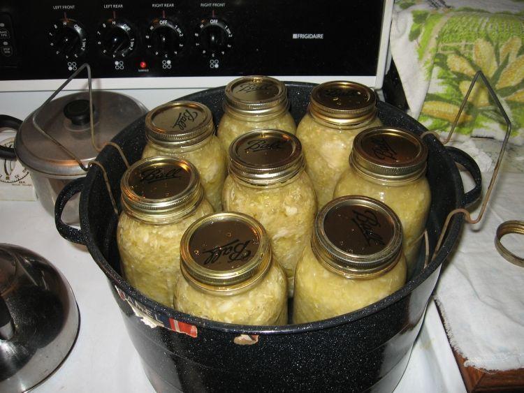 Sauerkraut Canning 5