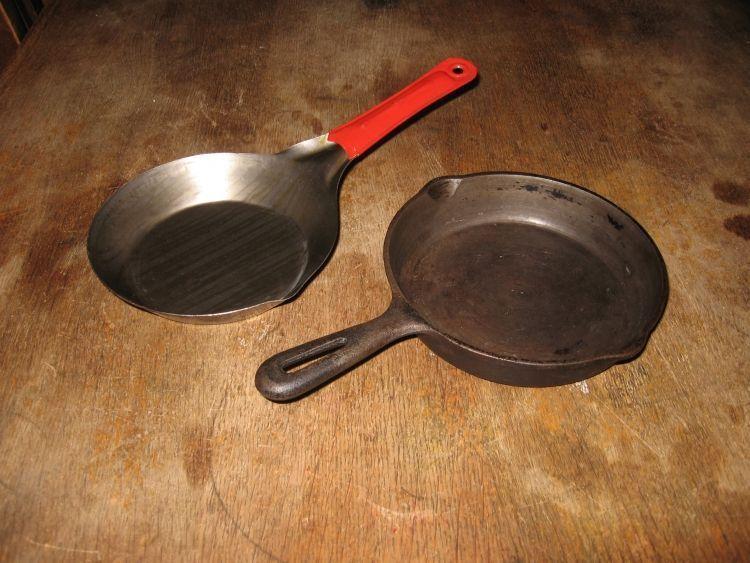 Cast iron,sheet steel frying pan