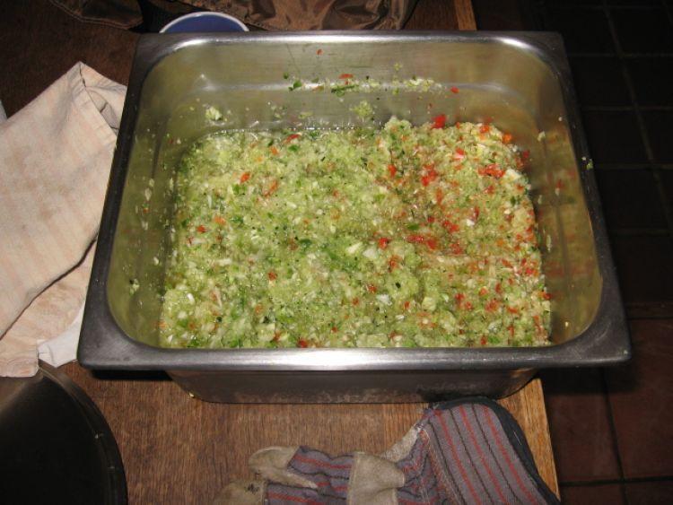 Zucchini Relish 'setting'