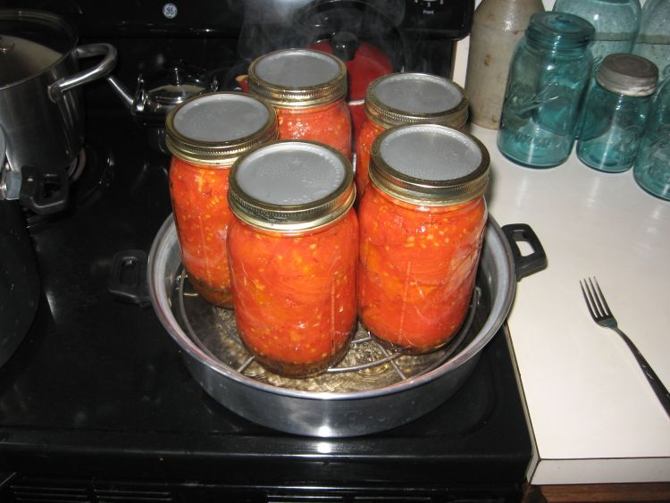 Stewed Tomatoes, in Steam Canner