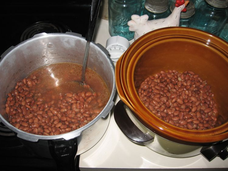 Beans in Crock Pot / Slow Cooker
