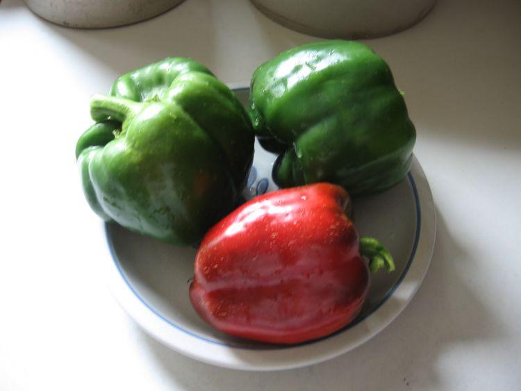 3 California Wonder Peppers