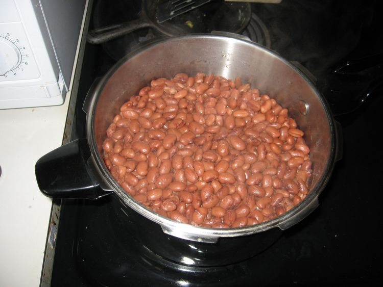 Beans after pressure cooking