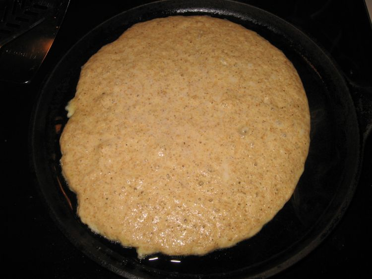 Millet Pancake, ready to turn
