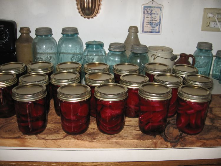 beets in jars