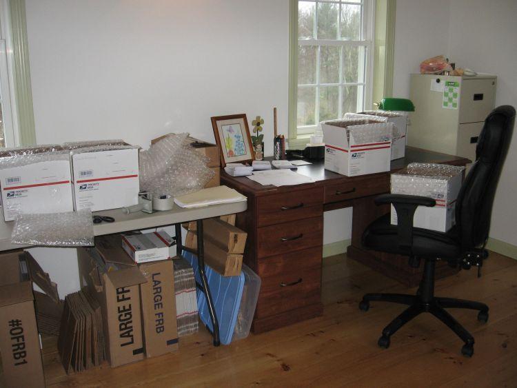 Where I pack orders