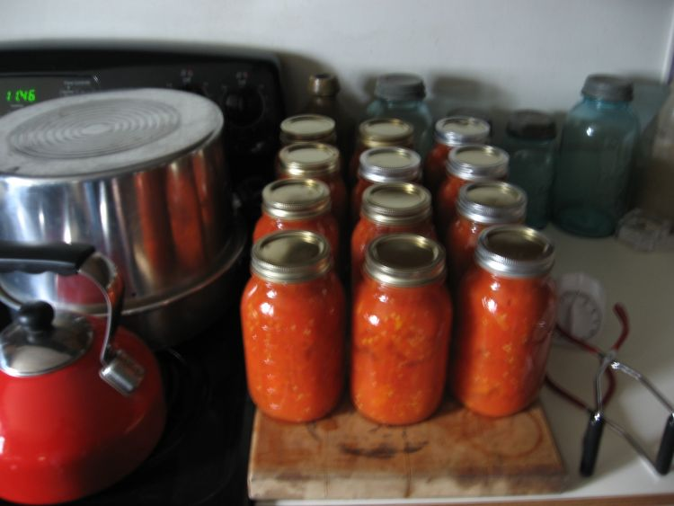 A Mornings Canning!