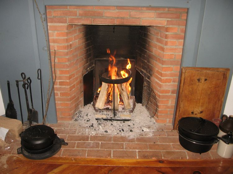 The fireplace hearth