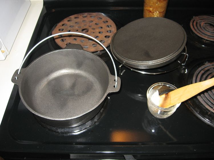 Seasoning new cast iron!