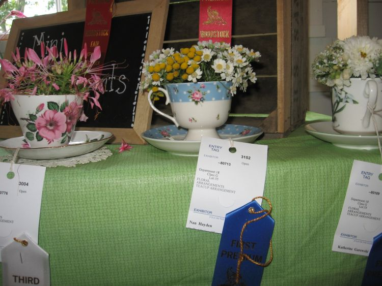 Flowers arranged for the Fair
