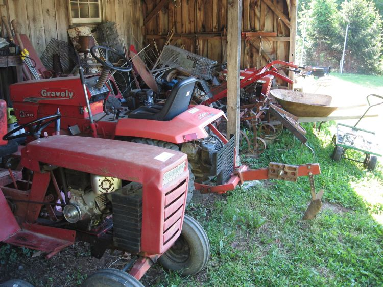 Crowded Garden Tractor shed
