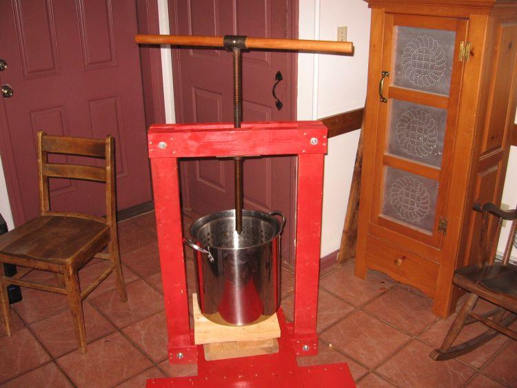 Cider Press in the kitchen